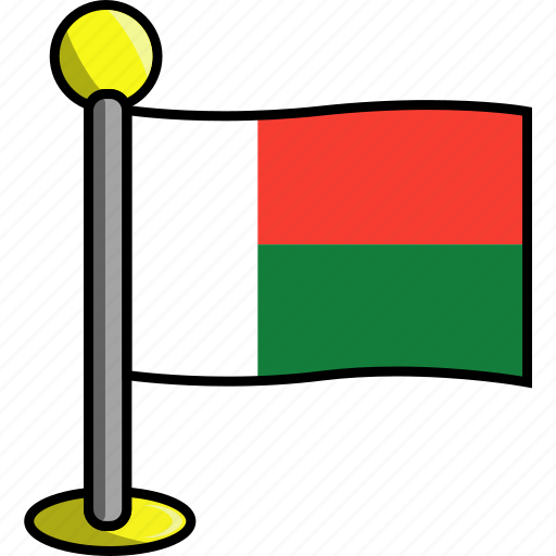 country, flag, flags, madagascar icon