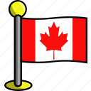 canada, country, flag, flags