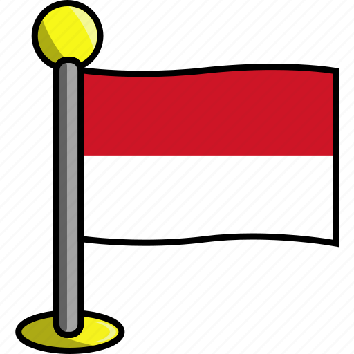 country, flag, flags, indonesia icon