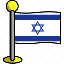 country, flag, flags, israel