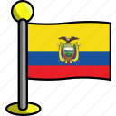 country, ecuador, flag, flags icon