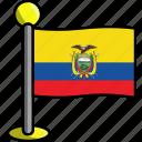 country, ecuador, flag, flags