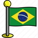 brazil, country, flag, flags icon