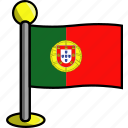 country, flag, flags, portugal
