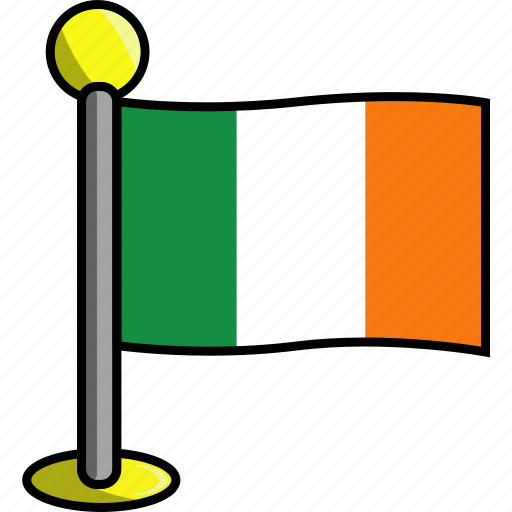 country, flag, flags, ireland icon