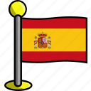 country, flag, flags, spain
