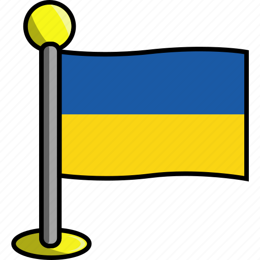 country, flag, flags, ukraine icon