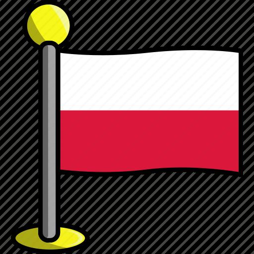 country, flag, flags, poland icon
