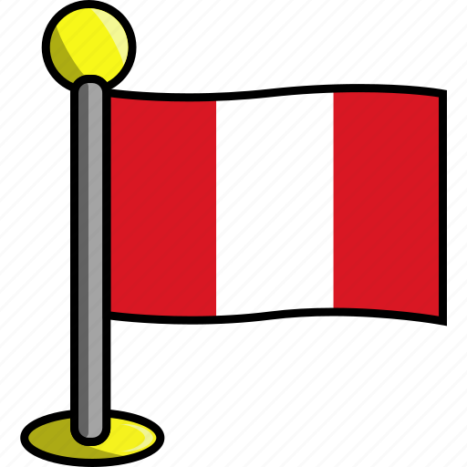 country, flag, flags, peru icon