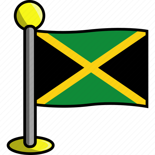 country, flag, flags, jamaica icon