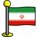 country, flag, flags, iran