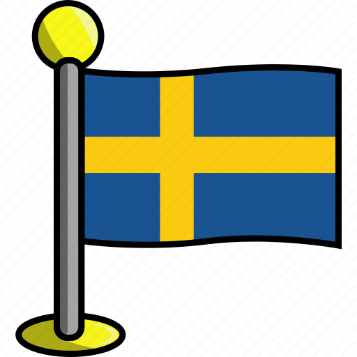 country, flag, flags, sweden icon