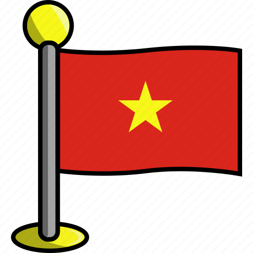 country, flag, flags, vietnam icon