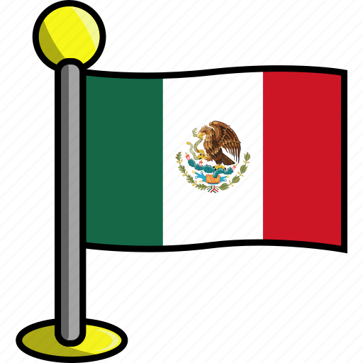 country, flag, flags, mexico icon