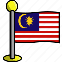 country, flag, flags, malaysia