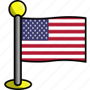 country, flag, flags, states, united, usa