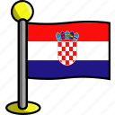 country, croatia, flag, flags icon