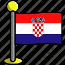 country, croatia, flag, flags