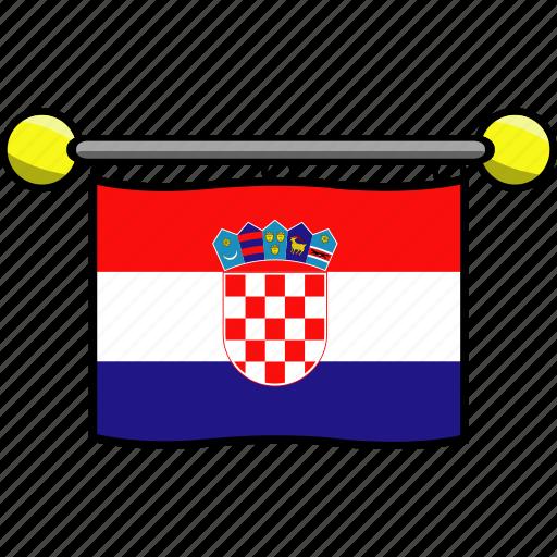 country, croatia, flag, flags icon
