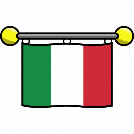 country, flag, flags, italy icon
