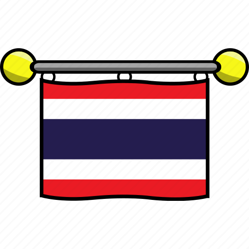 country, flag, flags, thailand icon