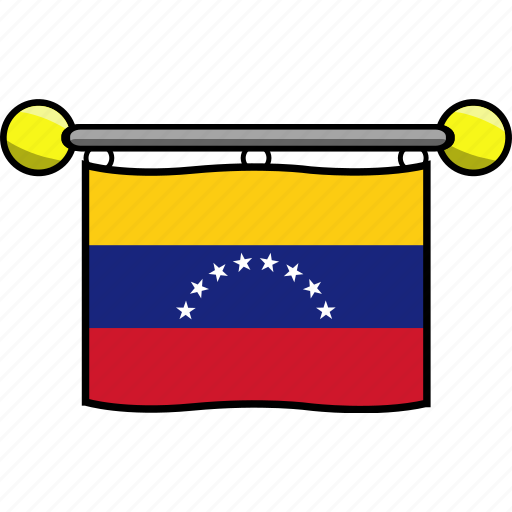 country, flag, flags, venezuela icon