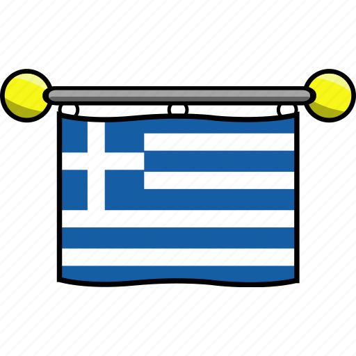 country, flag, flags, greece icon