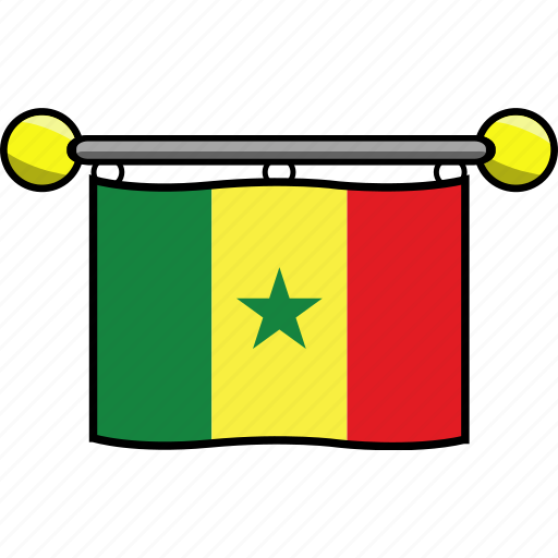 country, flag, flags, senegal icon