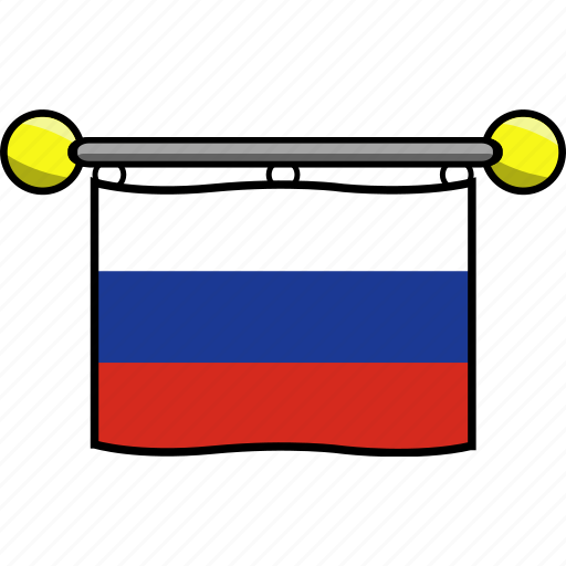 country, flag, flags, russia icon
