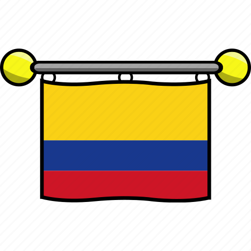 colombia, country, flag, flags icon