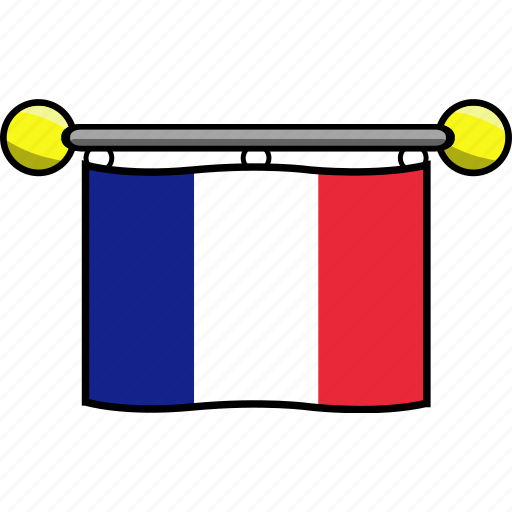 country, flag, flags, france icon