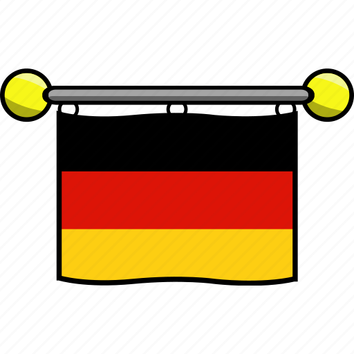 country, flag, flags, germany icon