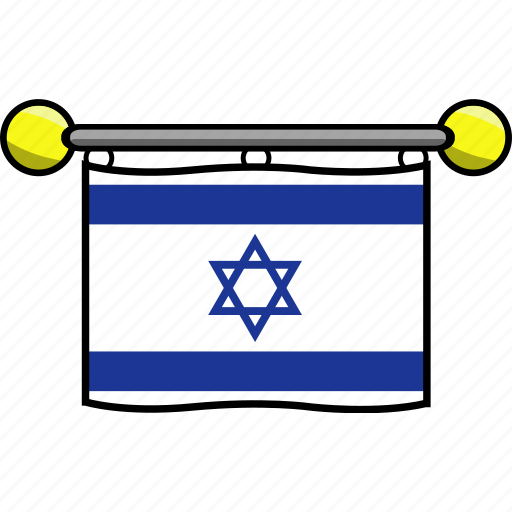 country, flag, flags, israel icon