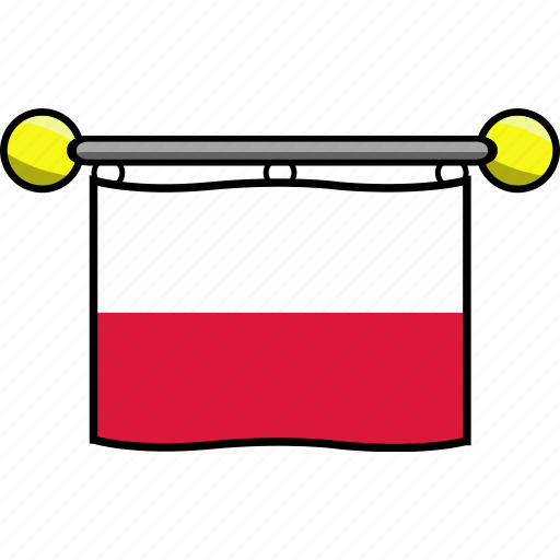 country, flag, flags, poland icon