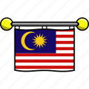 country, flag, flags, malaysia icon