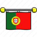 country, flag, flags, portugal icon