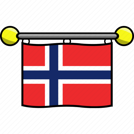 country, flag, flags, norway icon