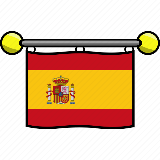 country, flag, flags, spain icon