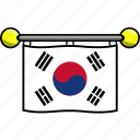 country, flag, flags, korea, south icon