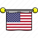 country, flag, flags, states, united, usa icon
