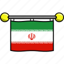 country, flag, flags, iran icon