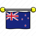 country, flag, flags, new, zealand icon