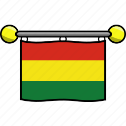 bolivia, country, flag, flags icon