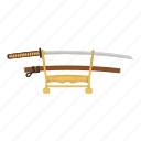 japanese, katana, sword, traditional icon