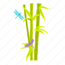 bamboo, flora, leaves, plant, stem, tropic icon