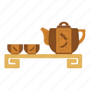 cup, japan, kettle, tea, tea party, tradition icon