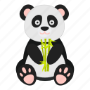 animal, bamboo, bear, panda icon