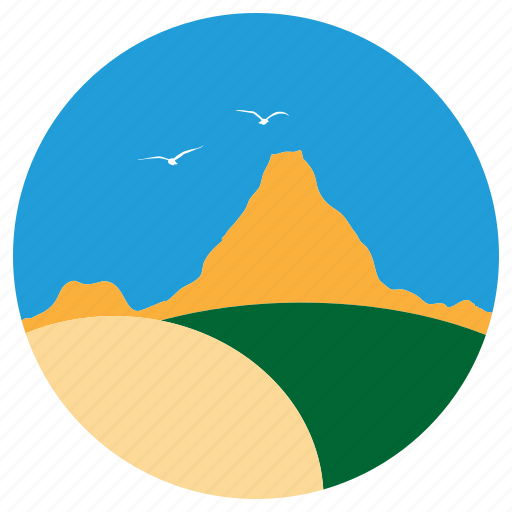 eagles, fly, hills, mountain, sunset icon