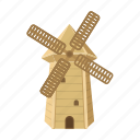 country, sightseeing, spain, travel, windmill icon