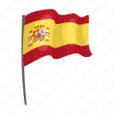 country, culture, flag, national, sightseeing, spain, travel icon